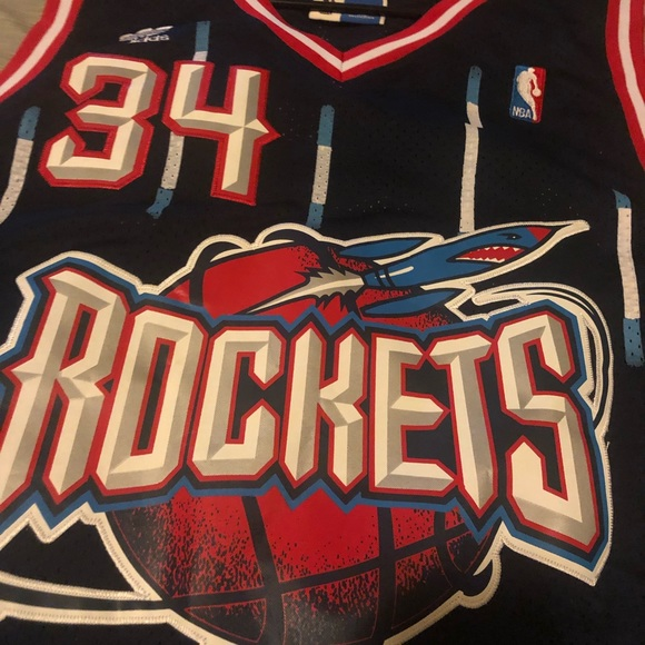 new product 48f2d 22622 Houston Rockets Hakeem Olajuwon Throwback Jersey NWT